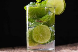 Mojito on wooden
